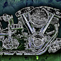Harley - Davidson Shovelhead Engine by Al Matra