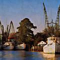 Shrimp Boat Fleet Georgetown Sc by Gary Nelson
