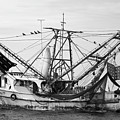 Shrimp Boat In Black And White by Bruce Block