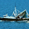 Shrimp Boat In The Gulf by Bill Perry