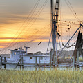 Shrimp Boat Sunset Charleston Sc by Dustin K Ryan