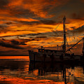 Shrimp Boat Sunset by Dave Bosse