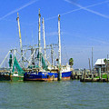 Shrimp Boats Seabrook  by Fred Jinkins