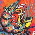 Shrimp On Sax by Robert Wolverton Jr