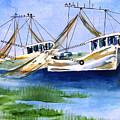 Shrimpboats by Sandi Stonebraker