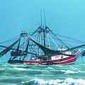 Shrimping On A Windy Day In Key West by Bob Slitzan