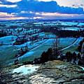 Shropshire Winter Sunset Scene by Chris Smith