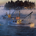 Shrouded In Morning Sea Smoke by Marty Saccone
