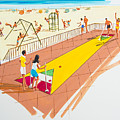 Retro Shuffleboard Art From The 1960's by Retro Views