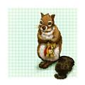 Shy Squirrel by Catherine Noel
