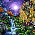 Siamese Cat By A Cascading Waterfall by Laura Iverson
