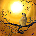 Siamese Cat In Autumn Glow by Laura Iverson