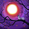 Siamese Cat In Purple Moonlight by Laura Iverson