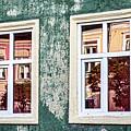Sibiu Window Reflections - Romania by Stuart Litoff
