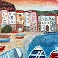 Sicilian Fishing Village by Lia  Marsman