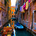 Side Canal  Venice by Sheila Laurens