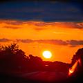 Side Mirror Sunset by Kim Henderson