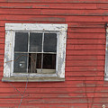 Side Of An Old Red Barn Quechee, Vermont by Edward Fielding