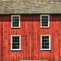Side Of Barn And Windows At Old World Wisconsin by Christopher Arndt
