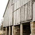 Side Of The Amana Farmer's Market Barn Amana Ia by Cynthia Woods