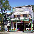 Side Street Cafe Los Olivos Ca by Kurt Van Wagner