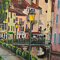 Side Streets In Annecy by Charlotte Blanchard
