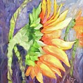 Side Sunflower Painting by Natalie Rotman Cote