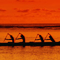 Side View Of Paddlers by Joe Carini - Printscapes