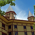 Side View Of The Great Auditorium Of Ocean Grove Nj by Anna Lisa Yoder