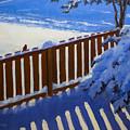 Side Yard Snow by Bob Thomas