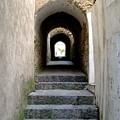 Sidewalk In Capri Italy by Mindy Newman