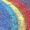 Sidewalk Rainbow  by Olivier Le Queinec