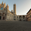 Siena Cathedral Wide Shot Sunrise  by John McGraw