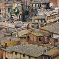 Siena Colored Roofs And Walls In Aerial View by IPics Photography