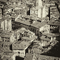 Siena From Above Antiqued by Cliff Wassmann