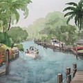 Siesta Key - Fishing On The Grand Canal by Becky Noble
