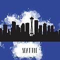 Seattle Skyline Silhouette by Anna Maloverjan