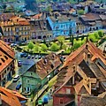 Sighisoara From Above by Jeffrey Kolker