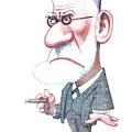 Sigmund Freud, Caricature by Gary Brown