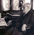 Sigmund Freud Seated In His Study by Everett