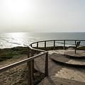 Silence And Solitude - A Special Sunset Throne High Above The Ocean by Georgia Mizuleva