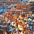 Silent City Snowy Hoodoos by Ray Mathis