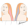 Silent Eve Mirror- Beautiful Woman Portrait Minimalist Drawing by Iri Kirova