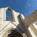 Silent Witness - Carmo Convent Roofless Ruin In Lisbon Portugal by Georgia Mizuleva
