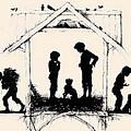Silhouette Of The Book From The Village Of Memories 1882 5 Elizabeth Merkuryevna Boehm Endaurova by Eloisa Mannion