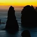 Silhouette Of The Twelve Apostles At Sunset by Hideaki Sakurai