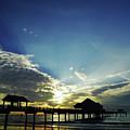 Silhouette Pier 60 Sunset by D Hackett