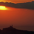 Silhouetted Cityscape Of Marseille At Sunset by Sami Sarkis