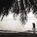 Silhouetted Couple by Larry Dale Gordon - Printscapes