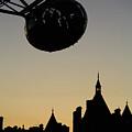 Silhouetted London Eye Capsule by Deborah Benbrook